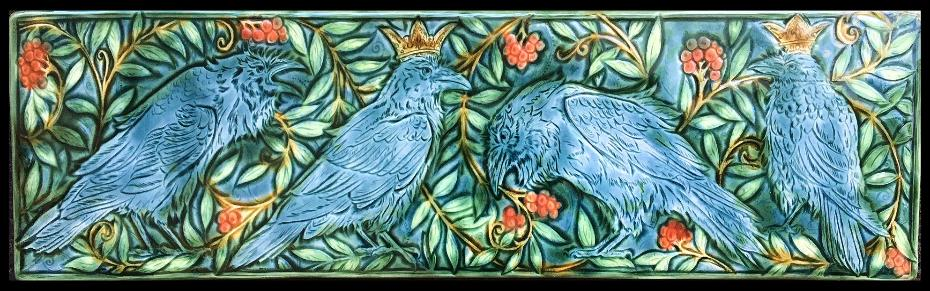 The Forest King. Crows in the Wood 8x30 inch tile