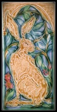 Hare & Flora Tile by Mary Philpott