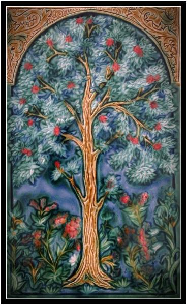 Tree of Life: Evening. by Verdant Tile. copyright.