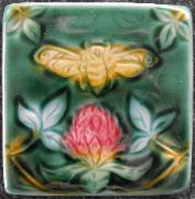 Bee in Clover tile. Copyright Verdant Tile.
