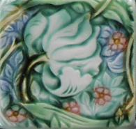 Morris Pimpernel inpsirered tiles. Copyright (my interpretation) Verdant Tile.