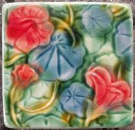 Nasturtium Tile, inspired by Verneiul. Copyright Verdant tile.