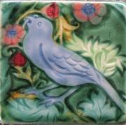Strawberry Thief Tile. copyright Verdant tile.
